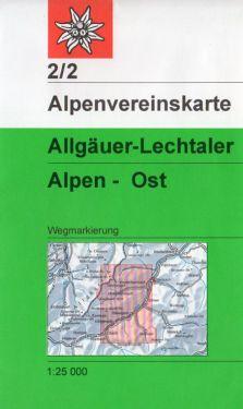 Allgauer-Lechtaler Alpen Ost 1:25.000