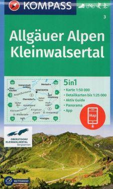 Allgauer Alpen, Kleinwalsertal 1:50.000