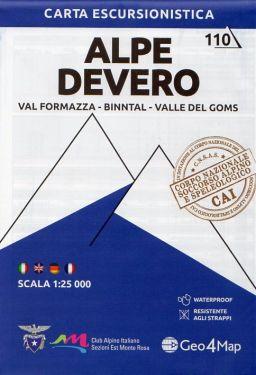 Alpe Devero, Val Formazza, Binntal, Valle del Goms 1:25.000 (110)