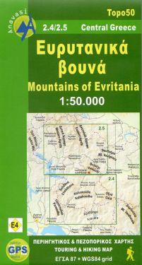 Mountains of Evritania 1:50.000