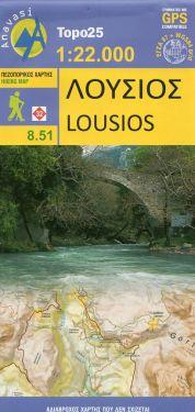 Lousios (Dimitsana e Mount Klinitsa) 1:22.000