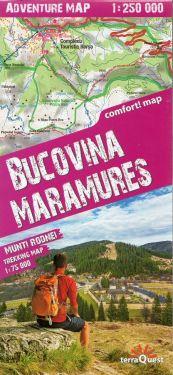 Bucovina, Maramures 1:250.000 - Munti Rodnei 1:75.000 (Monti Carpazi)