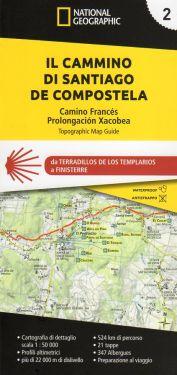Cammino di Santiago de Compostela vol.2 - atlante 1:50.000