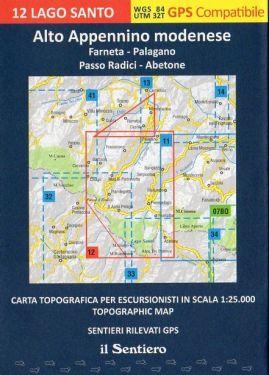 Alto Appennino Modenese - Lago Santo F.12 1:25.000