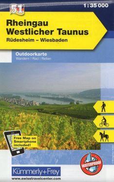 Rheingau, Westlicher Taunus 1:35.000