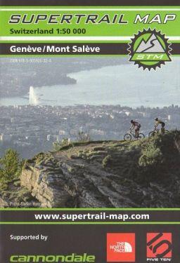 Genève, Mont Salève supertrail map 1:50.000