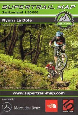 Nyon, La Dôle supertrail map 1:50.000
