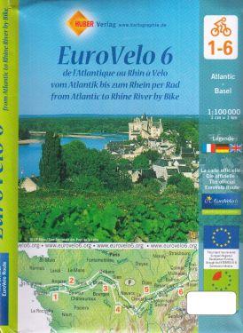 Euro Velo 6 1:100.000 - 6 mappe della pista ciclabile della Loira
