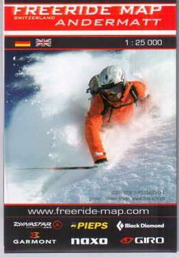 Andermatt freeride map 1:25.000