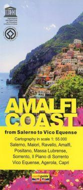 Amalfi Coast from Salerno to Vico Equense 1:55.000