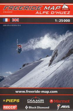Alpe d'Huez freeride map 1:25.000