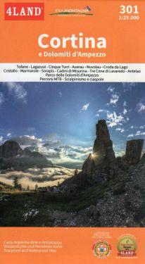Cortina e Dolomiti d'Ampezzo 1:25.000
