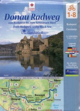 Euro Velo 6 Donau Radweg / Pista ciclabile del Danubio 1:100.000 - 8 mappe