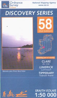 Clare, Limerick e Tipperary contee - Ennis f.58 1:50.000