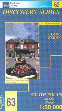 Clare e Kerry contee - Kilrush f.63 1:50.000