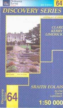 Clare, Kerry e Limerick contee - Newcastle West f.64 1:50.000