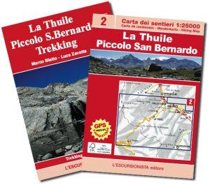 02 - La Thuile, Piccolo San Bernardo carta dei sentieri 1:25.000 ED.2014 SOLO CARTA