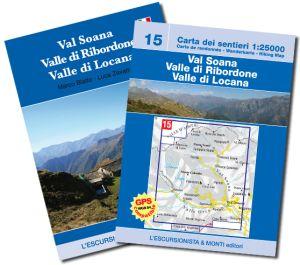 15 - Val Soana, Valle di Ribordone, Valle di Locana carta dei sentieri 1:25.000