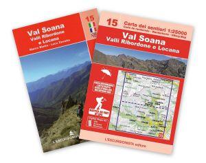 15 - Val Soana, valli Ribordone e Locana 1:25.000 ANTISTRAPPO 2019 con guida