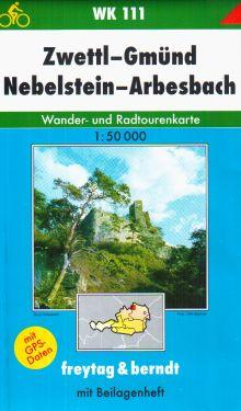 Zwettl, Gmund, Nebelstein, Arbesbach 1:50.000