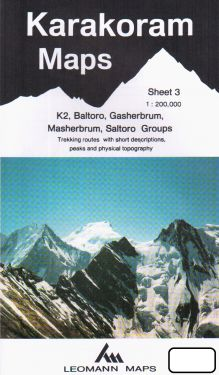 K2, Baltoro, Gasherbrum, Masherbrum, Saltoro Groups sheet 3 - 1:200.000