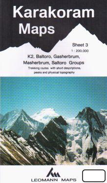 K2, Baltoro, Gasherbrum, Masherbrum, Saltoro Groups sheet 3 - 1:200.000