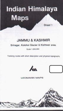 Jammu & Kashmir, Srinagar, Kolohoi Glacier, Kishtwar  sheet 1 - 1:200.000