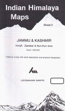 Jammu & Kashmir, Kargil, Zanskar, Nun-Kun sheet 2 - 1:200.000
