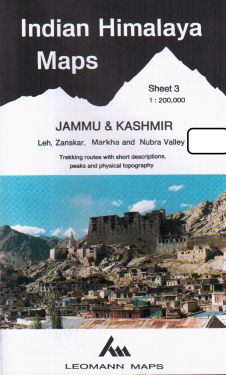 Jammu & Kashmir, Leh, Zanskar, Markha e Nubra Valley sheet 3 - 1:200.000