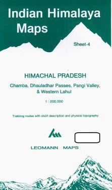 Himachal Pradesh, Chamba, Dhauladhar Passes, Pangi Valley, Western Lahul sheet 4 - 1:200.000