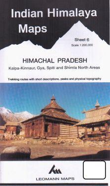 Himachal Pradesh, Kalpa-Kinnaur, Gya, Spiti e Shimla North sheet 6 - 1:200.000