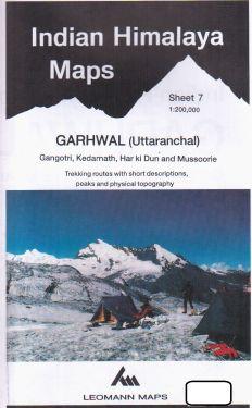 Garhwal (Uttaranchal), Gangotri, Kedarnath, Har ki Dun e Mussoorie sheet 7 - 1:200.000