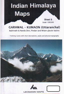 Garhwal-Kumaon (Uttaranchal), Pindari Glacier, Milam Glacier, Badrinath e Nanda Devi sheet 8 - 1:200.000