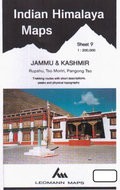 Jammu & Kashmir, Rhupsu, Tso Moriri, Pangong Tso sheet 9 - 1:200.000
