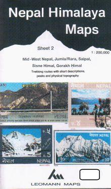 Mid-West Nepal, Jumla/Rara, Saipal, Sisne Himal, Gorakh Himal sheet 2 - 1:200.000