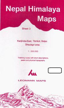 Kanjiroba East, Tibrikot, Dolpo, Dhaulagri sheet 3 - 1:200.000