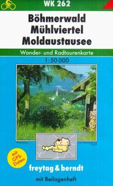 Bohmerwald, Muhlviertel, Moldaustausse 1:50.000