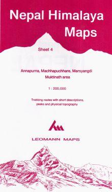 Annapurna, Machhapuchhare, Marsyangdi, Muktinath sheet 4 - 1:200.000