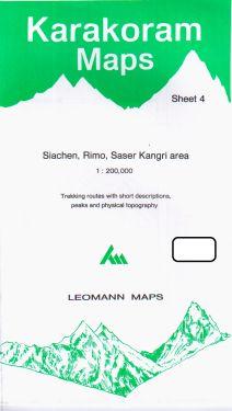Siachen, Rimo, Saser Kangri sheet 4 - 1:200.000