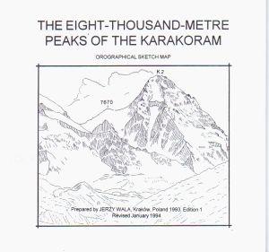 The eight-thousand-metre peaks of the Karakoram 1:50.000