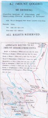 K2 Mount Qogori 1:100.000