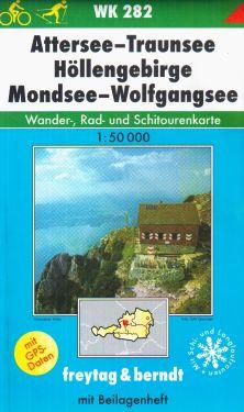 Attersee, Traunsee, Hollengebirge, Mondsee, Wolfgangsee 1:50.000