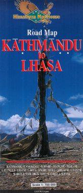 Road map Kathmandu - Lhasa 1:700.000