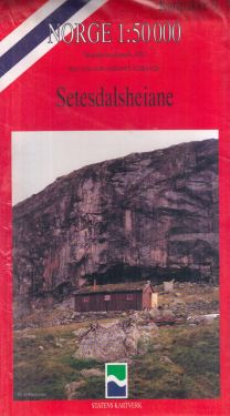 Setesdalsheiane 1:50.000 - 6 mappe