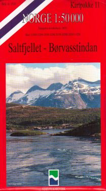 Saltfjellet, Borvasstindan 1:50.000 - 8 mappe