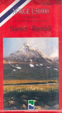 Skjomen, Bjørnfjell 1:50.000 - 8 mappe