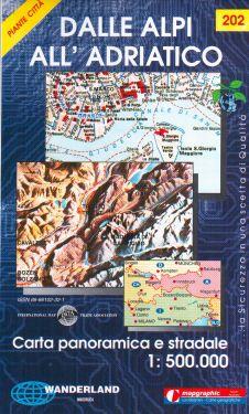 Dalle Alpi all'Adriatico 1:500.000