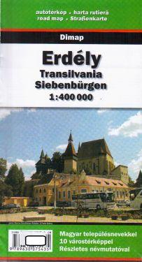 Erdeély, Transilvania, Siebenbürgen 1:400.000