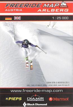 Arlberg freeride map 1:25.000