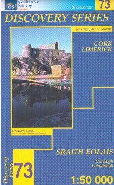 Cork e Limerick contee - Ballyhoura Mountains f.73 1:50.000